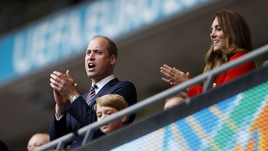 Prinz William, Prinz George und Herzogin Kate bei der Euro 2020