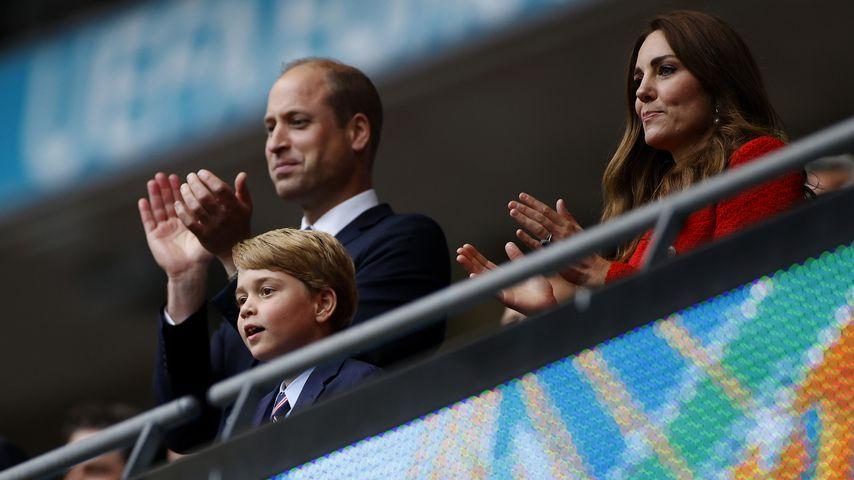Prinz William, Prinz George und Herzogin Kate, Juni 2021