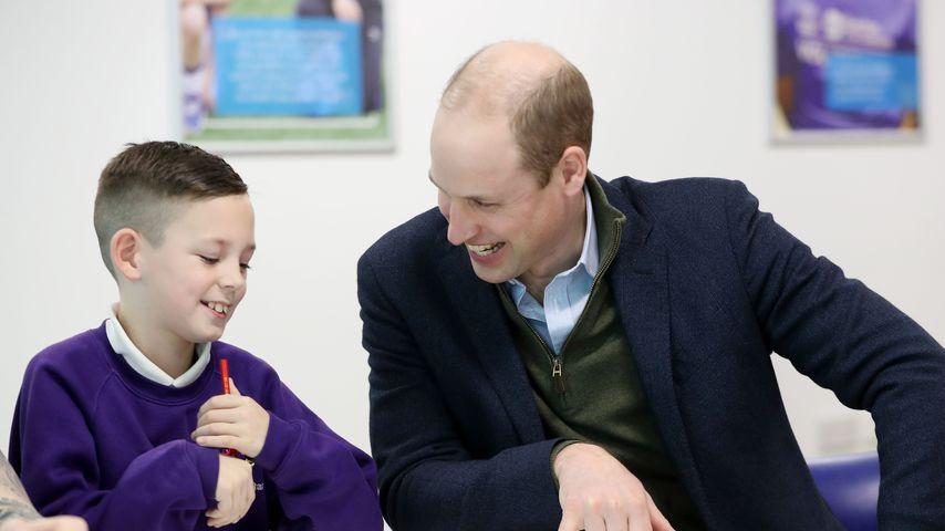 Prinz William bei einem Schulbesuch