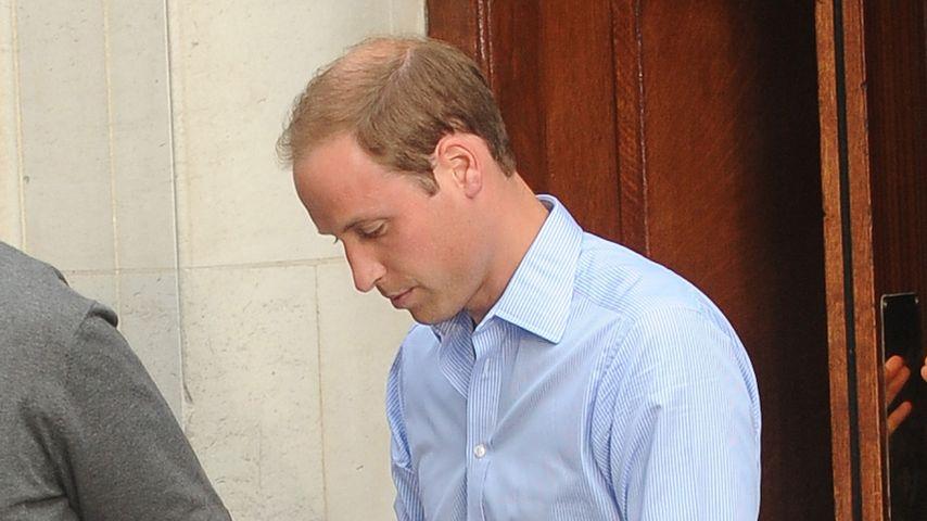 Prinz William: Der stolze Papa packt selbst an