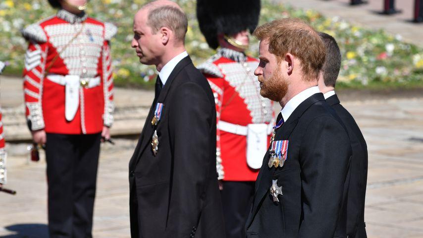 Prinz William und Harry in Prinz Philips Trauerzug
