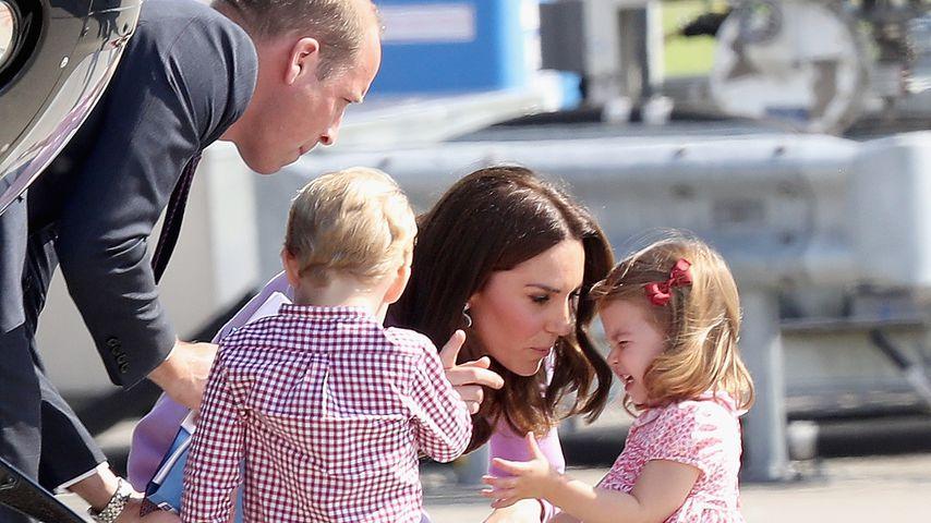 Prinz William und Herzogin Kate mit ihren Kindern George und Charlotte, 2017