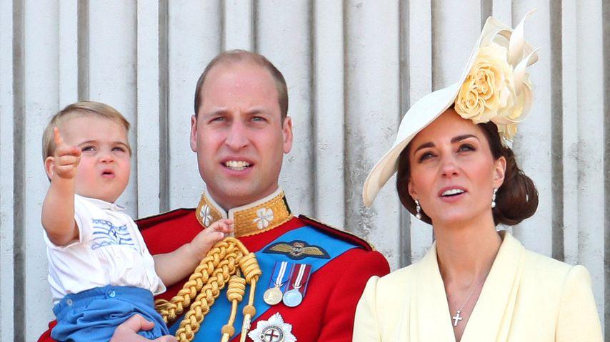 Prinz William und Herzogin Kate mit ihren Kindern Prinz Louis, Prinz George und Prinzessin Charlotte