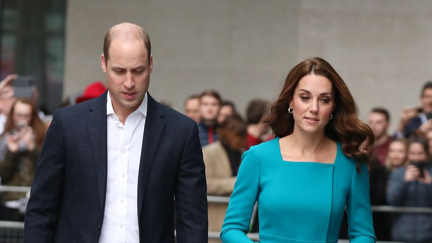 Prinz William und Herzogin Kate vorm BBC Broadcasting House in London
