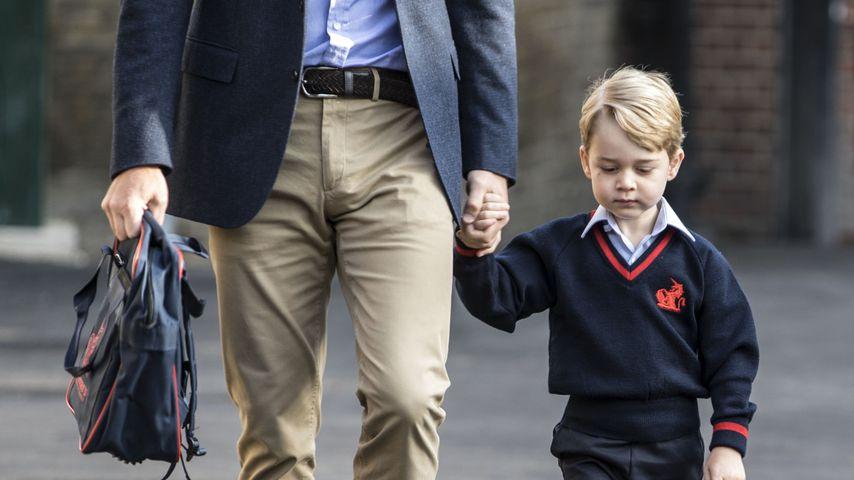 Prinz William und Prinz George beim ersten Schultag