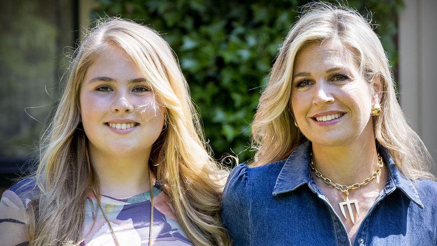 Prinzessin Catharina-Amalia und ihre Mutter, Königin Maxima der Niederlande, im Juli 2018