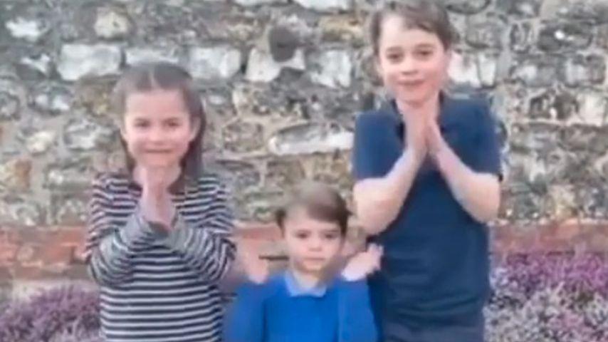 Prinzessin Charlotte, Prinz Louis und Prinz George im März 2020