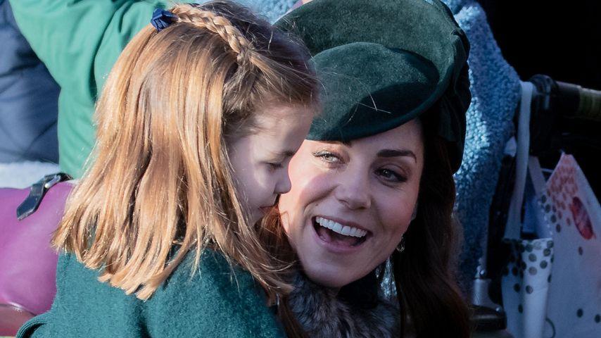 Prinzessin Charlotte und Herzogin Kate in Sandringham, Dezember 2019