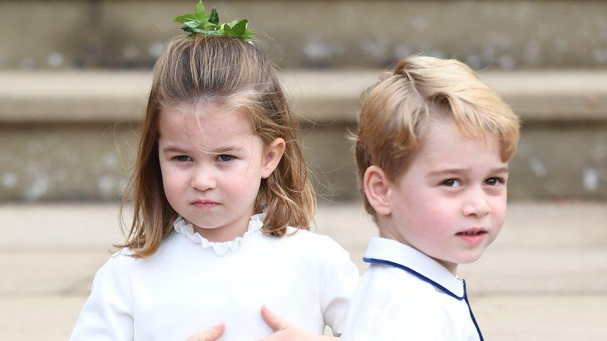 Prinzessin Charlotte und Prinz George bei der Hochzeit von Prinzessin Eugenie