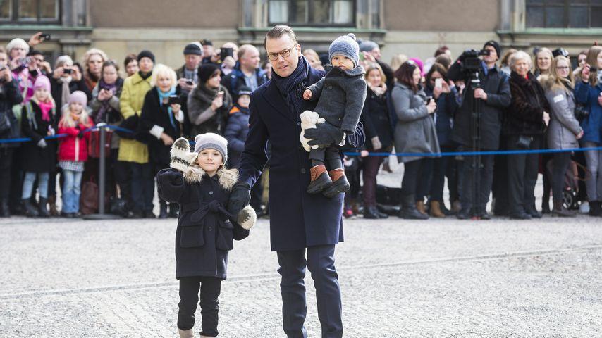 Prinzessin Estelle, Prinz Daniel und Prinz Oscar im März 2017