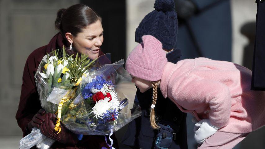Prinzessin Victoria mit Estelle, Mitte März 2019