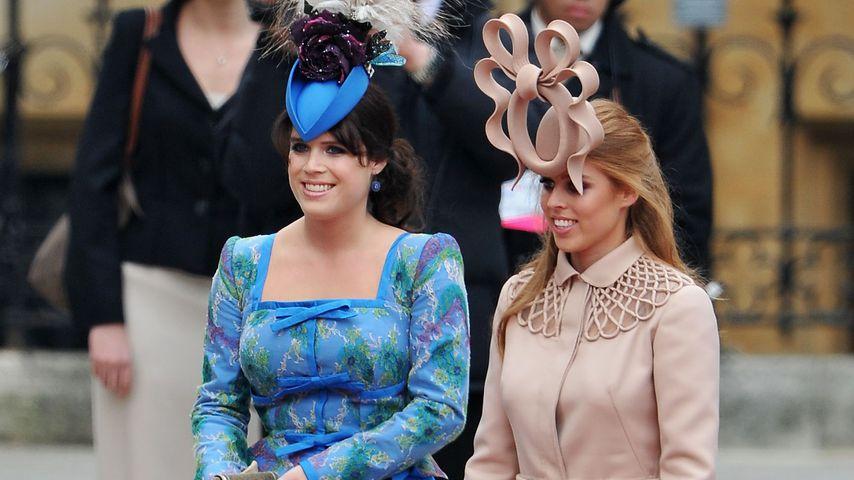 Prinzessin Eugenie und Prinzessin Beatrice im Jahr 2011