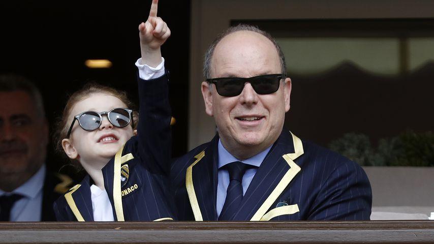 Prinzessin Gabriella mit ihrem Vater Fürst Albert von Monaco