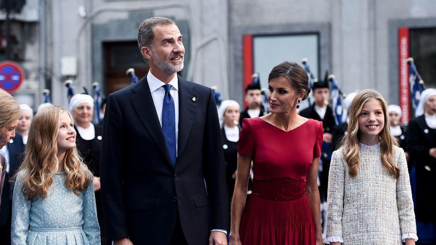 Prinzessin Leonor, König Felipe VI., Königin Letizia und Prinzessin Sofía