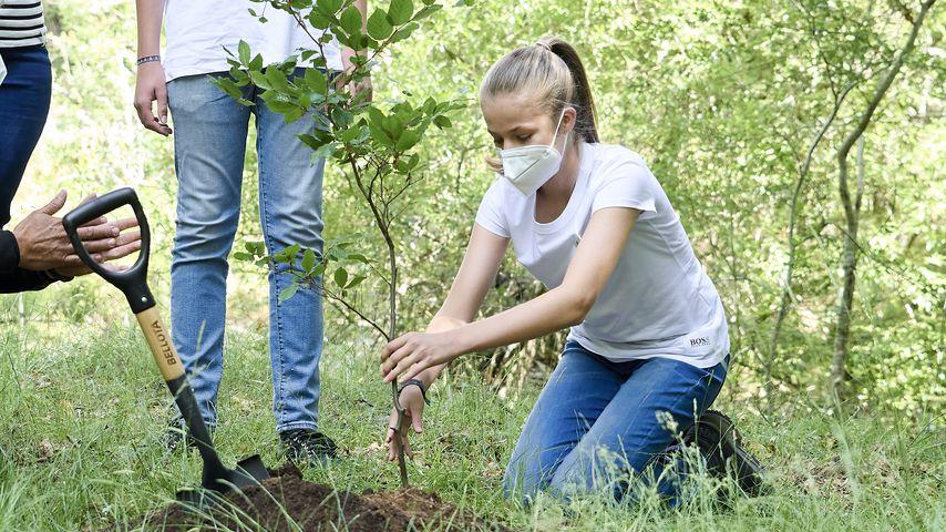 Prinzessin Leonor von Spanien bei einer Baumpflanzaktion, Juli 2021