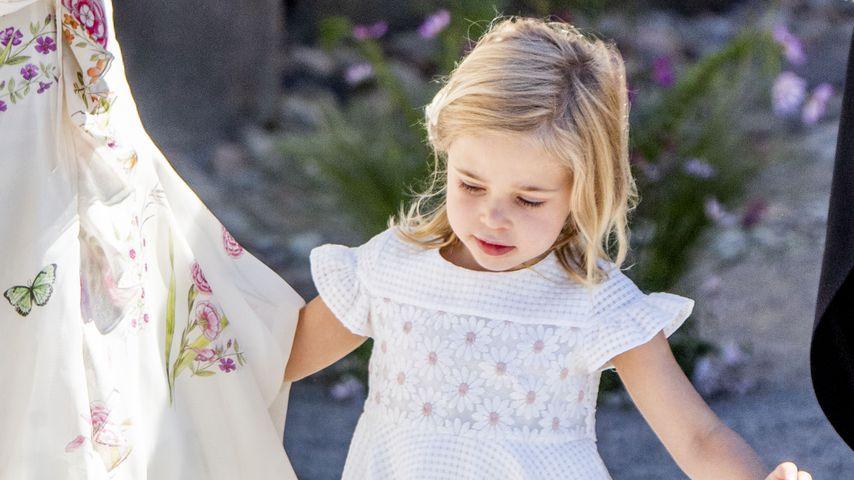 Prinzessin Leonore bei der Taufe von Prinzessin Adrienne auf Schloss Drottningholm