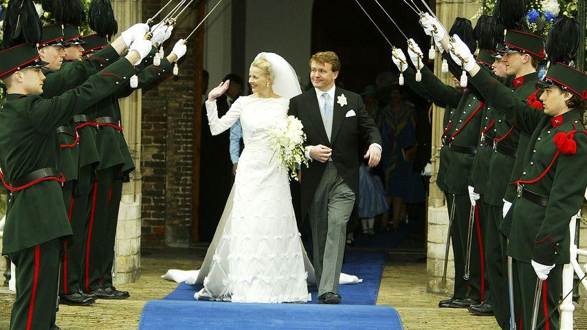 Prinzessin Mabel und Prinz Johan Friso bei der Hochzeit