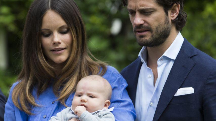 Prinzessin Sofia mit Baby Alexander und Carl Philip, Juli 2016