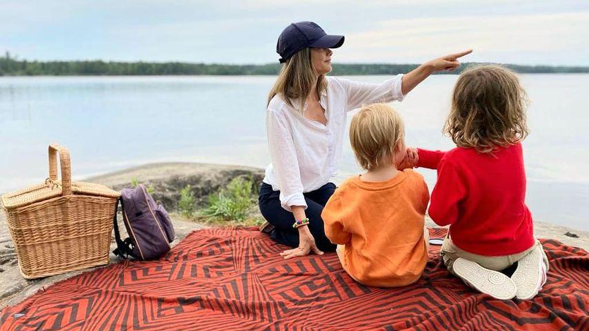 Prinzessin Sofia mit ihren Kindern Gabriel und Alexander