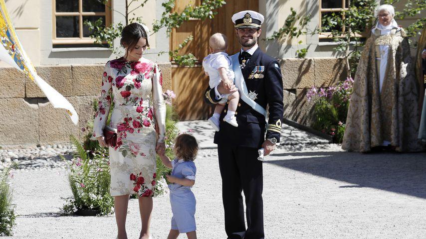Prinzessin Sofia und Prinz Carl Philipp mit ihren Söhnen Prinz Alexander und Prinz Gabriel