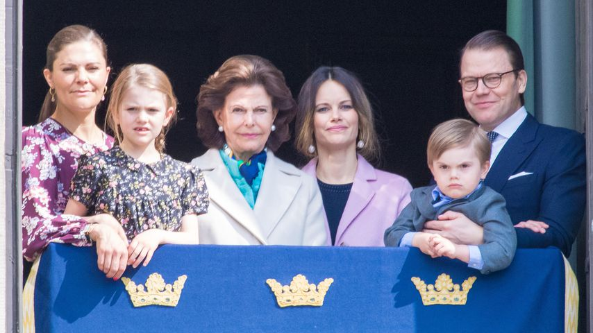 Prinzessin Victoria, Tochter Estelle, Königin Silvia, Prinzessin Sofia, Prinz Oscar und Prinz Daniel
