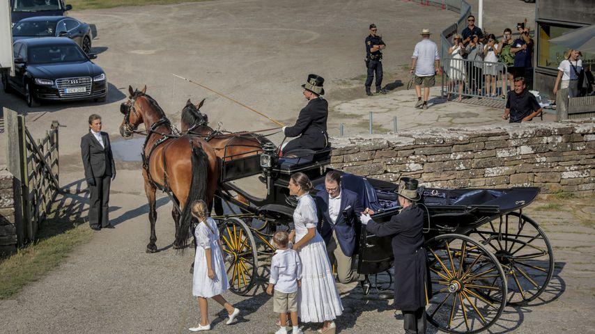 Prinzessin Victoria und Prinz Daniel mit ihren Kindern