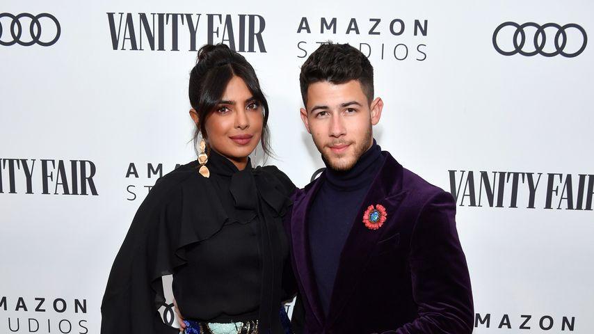 Priyanka Chopra Jonas und Nick Jonas, Januar 2020