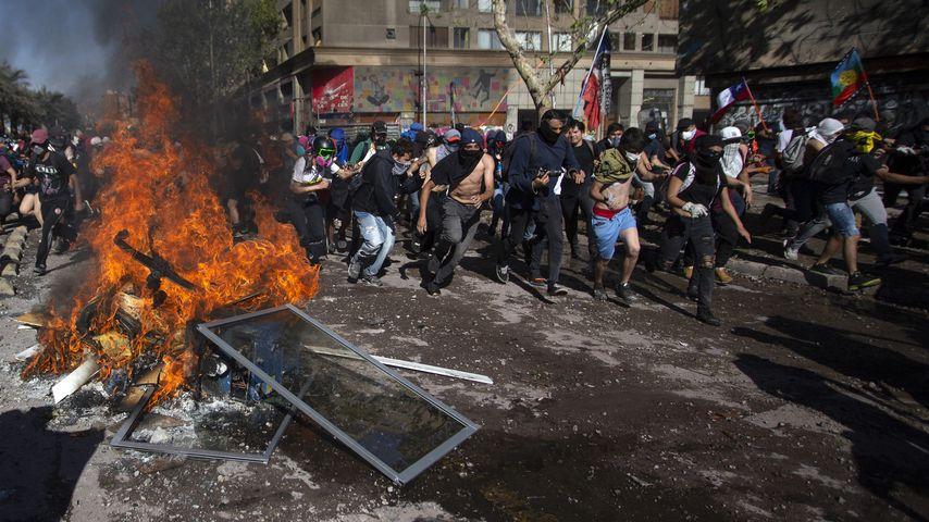 Proteste in der chilenischen Hauptstadt Santiago, November 2019