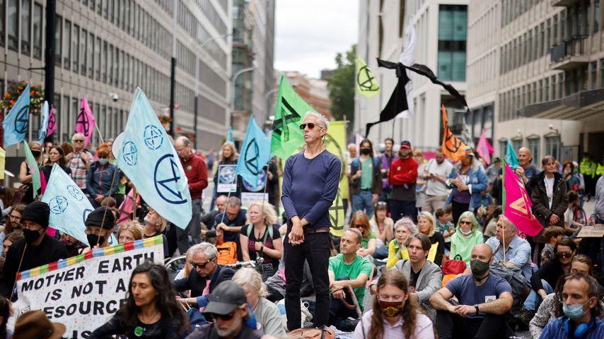 Schock: Umweltaktivisten attackieren den Buckingham Palast