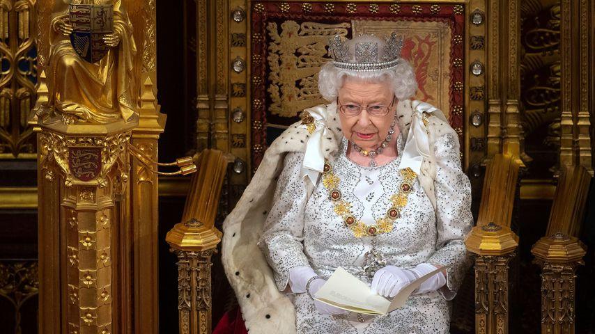 Queen Elizabeth bei der Eröffnung des britischen Parlaments, Oktober 2019