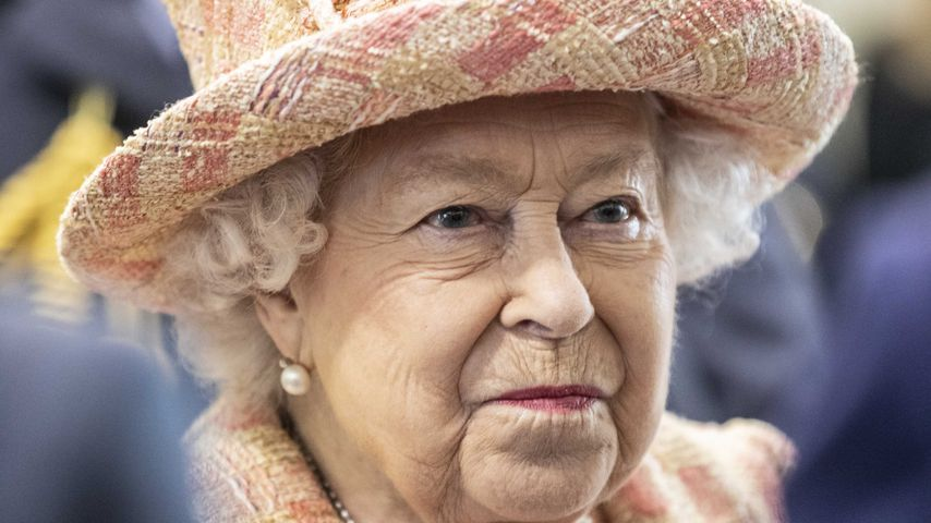 Queen Elizabeth II. bei einem Royal Air Force-Besuch in King's Lynn im Februar 2020