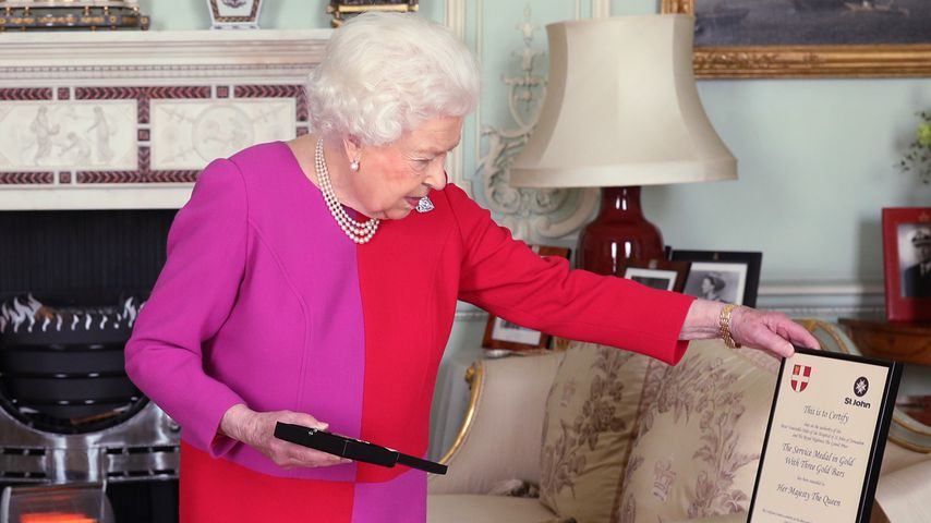 Queen Elizabeth II. im Buckingham Palace, März 2020