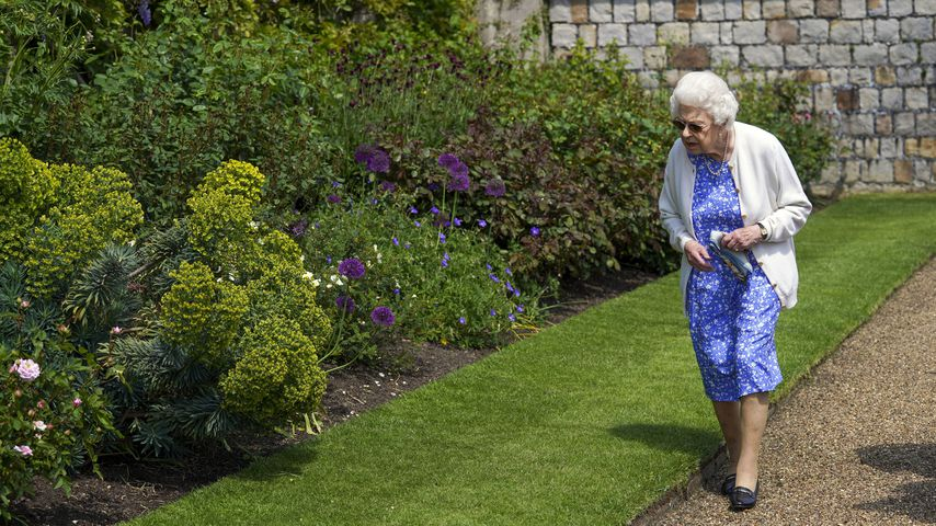 Queen Elizabeth II. im Garten von Schloss Windsor im Juni 2021