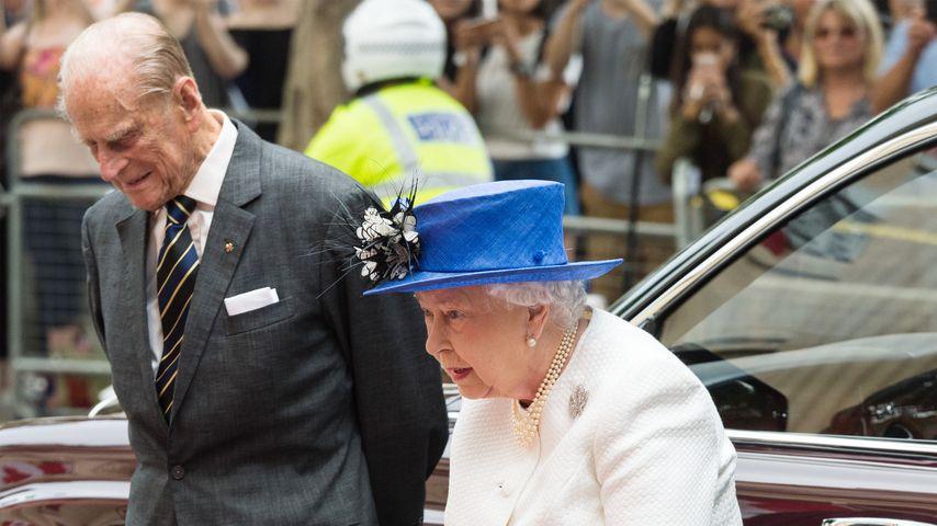 Queen Elizabeth II. mit Gatte Prinz Philip im Juli 2017 in London