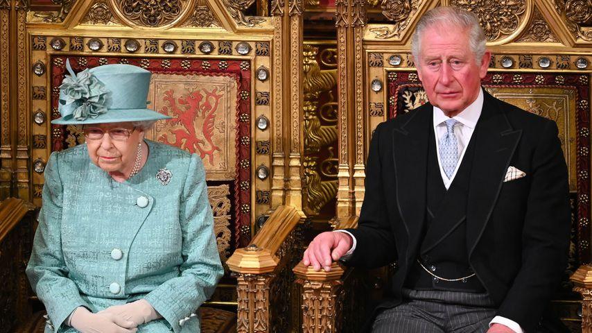 Queen Elizabeth II. und Prinz Charles im Dezember 2019 in London