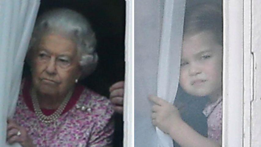 Zuckersüß! Prinzessin Charlotte ist das Mini-Me der Queen