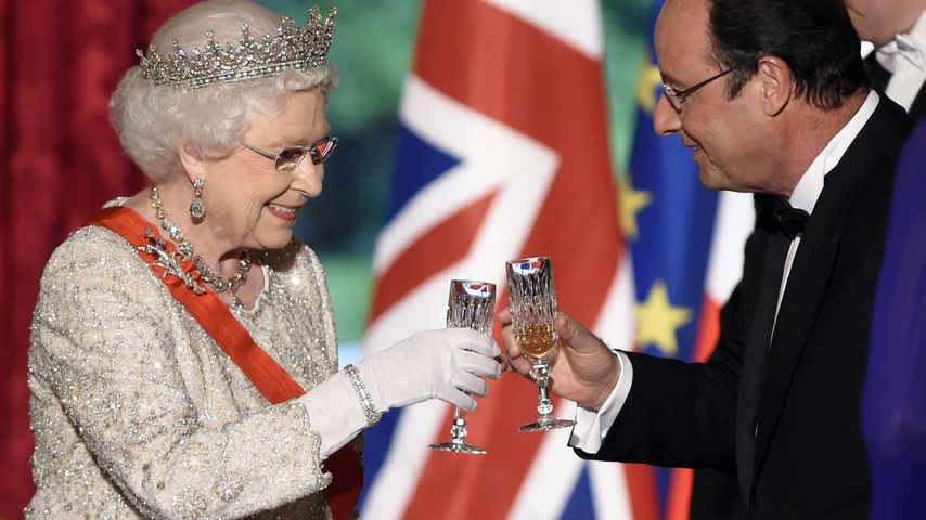 Queen Elizabeth und Francois Hollande
