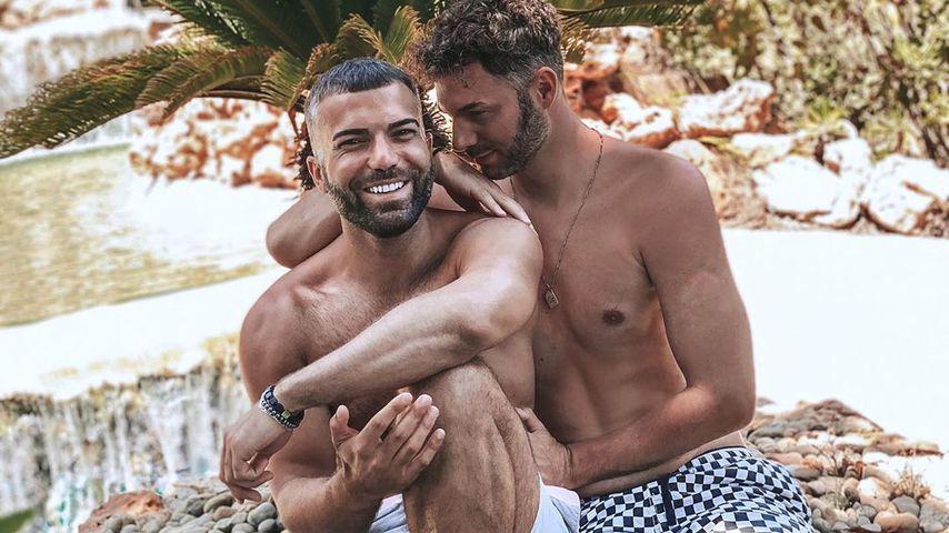 Rafi Rachek und Sam Dylan auf Mallorca im August 2020