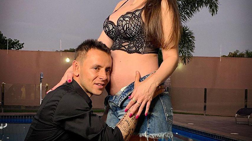 Rafinha und seine schwangere Freundin Fernanda, Juni 2019
