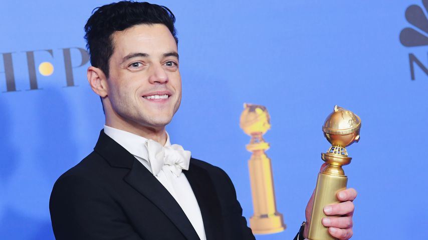 Rami Malek mit seinem Golden Globe