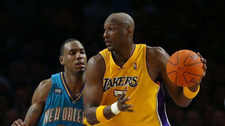 Rasual Butler und Lamar Odom auf dem Basketball-Feld