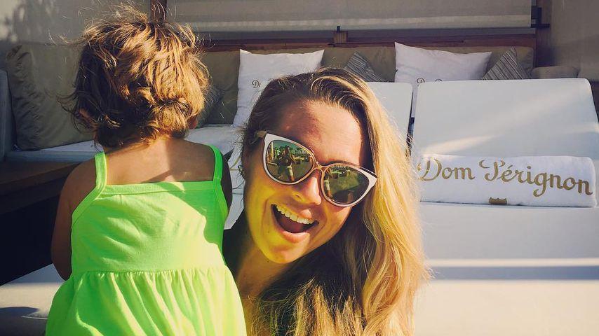 TV-Auswanderin Rebecca Kratz mit ihrer Tochter Alaia-Claire