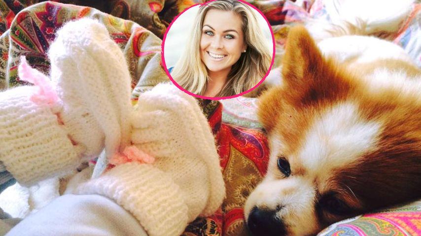 Süße Schnüffelei: Rebecca Kratz bringt Baby & Hund zusammen