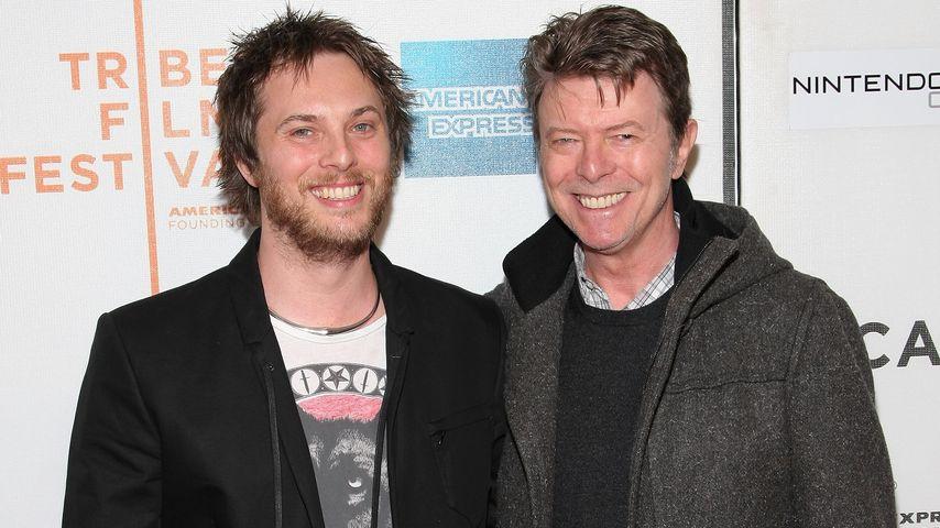 Regisseur Duncan Jones und Vater David Bowie beim Tribeca Film Festival im April 2009
