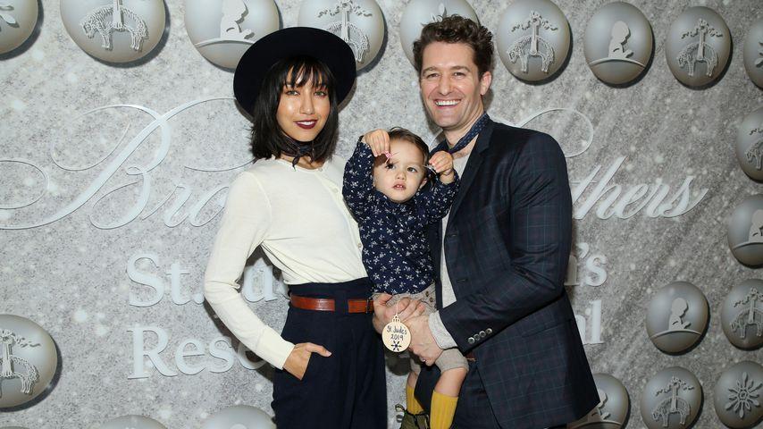 Renee Puente und Matthew Morrison mit ihrem Sohn Revel