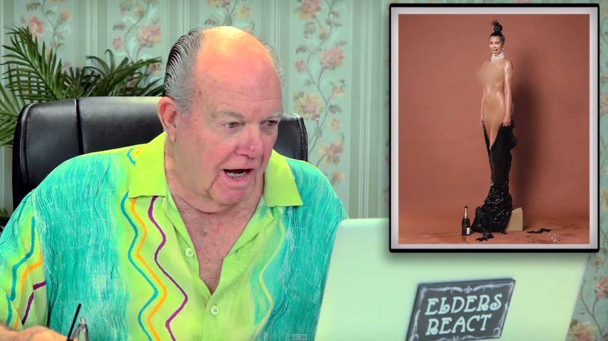 So reagieren Rentner auf Kim Kardashians Nude-Pics