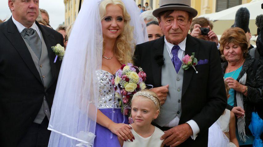 Cathy mit Tochter Leonie und Richard Lugner