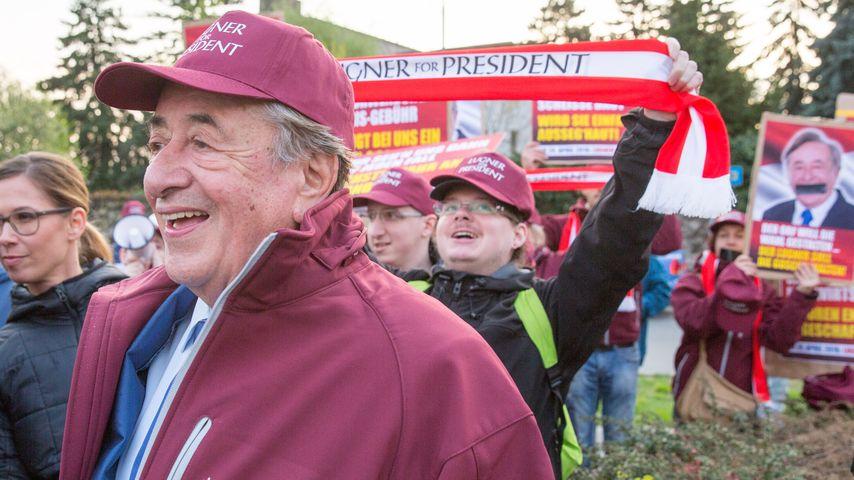 Richard Lugner im April 2016 bei einer Wahlkampfveranstaltung in Wien