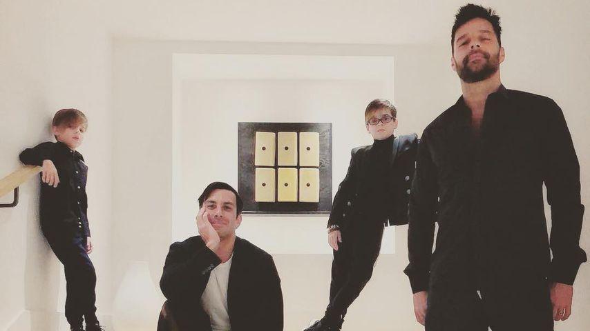 Ricky Martin (r.), sein Ehemann Jwan Yosef mit den Zwillingen Matteo und Valentino