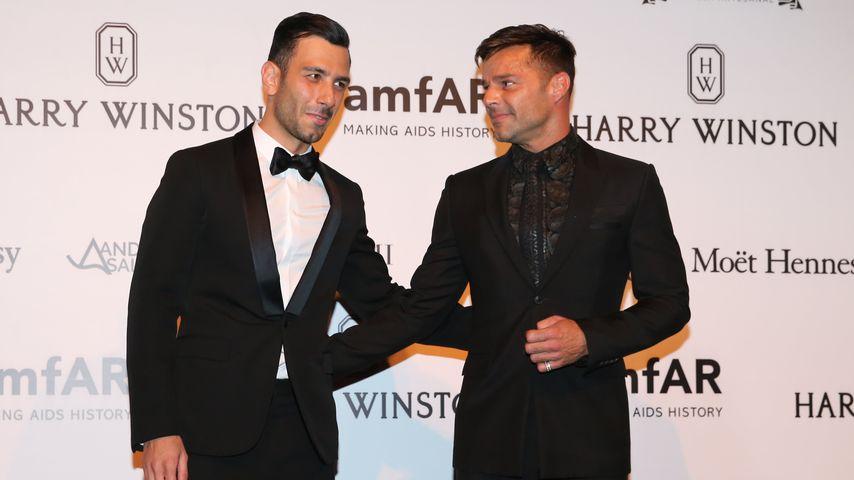 Ricky Martin und Jwan Yosef bei der amfAR-Gala in Cannes